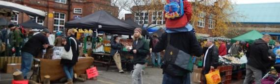 クリスマス前のロンドン・ファーマーズ(農家)マーケット